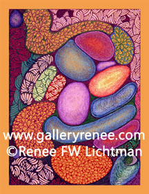 """Ashley"" Ballpoint Pen Drawing, Abstract Art Gallery, Fine Art for Sale from Artist Renee FW Lichtman"