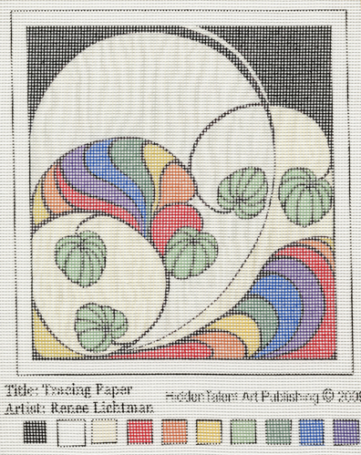 """Tracing Paper Needlepoint Canvas"" Abstract Art, Botanical and Floral Art, Fine Art for Sale from Artist Renee FW Lichtman"