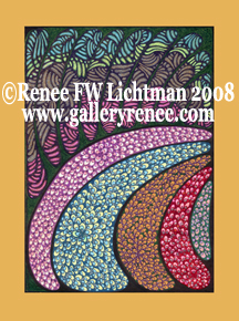 """Peacock"", Medium: Ballpoint Pen Drawing, Abstract Art Gallery, Fine Art for Sale from Artist Renee FW Lichtman"