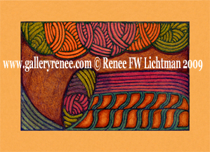 """Slide Rule the Infinite"", Ballpoint Pen Drawing, Abstract Art Gallery,Fine Art for Sale from Artist Renee FW Lichtman"