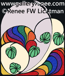 """Smooth Tracing""  Colored Pencil, Pen and Ink and Digital Recomposition, Abstract Art Gallery, Fine Art for Sale from Artist Renee FW Lichtman"