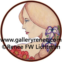 """Victoria""Crayon, Ballpoint Pen and Digital Recomposition, Figurative and Portrait Art Gallery, Fine Art for Sale from Artist Renee FW Lichtman"
